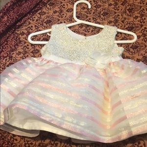 Childrens place Pink and white dress